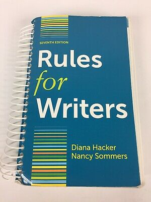 Rules For Writers 7th Edition 2015 Diana Hacker Nancy Sommers Harvard University
