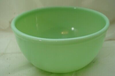 VINTAGE FIRE KING JADITE MIXING BOWL BEADED EDGE 7in NESTING SINGLE OVEN WARE