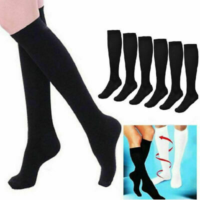 1 Pair Women Men Anti Fatigue High Knee Compression Socks Stocking Sock Support.