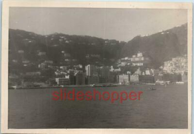 Photo View of Central Hong Kong Bank of China Harbor Waterfront Skyline in 1954