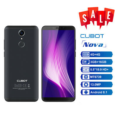 """Cubot Nova 5.5"""" pollici 4G Smartphone Android 8.1 3GB 16GB 2800mAh Touch ID 13MP"""