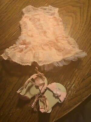 American Girl Shimmer & Lace Party Dress EUC RETIRED