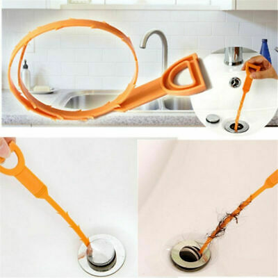 Cleaner Tool Kitchen Bathroom Remover Hair Sink Hook Clog Snake Drain Unclog