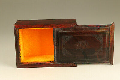 rare Chinese old wood hand carved jewel ring pendant box