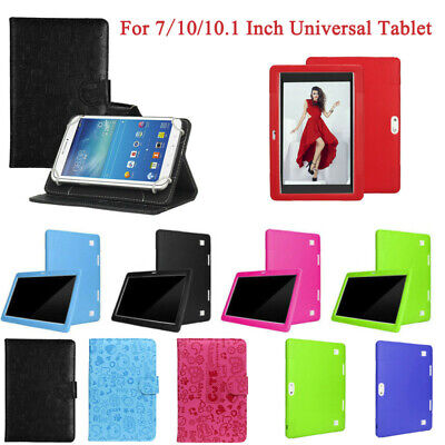 Universal Smart PU+Leather/Silicone Cover Case Stand For 7/10/10.1 Inch Tablet