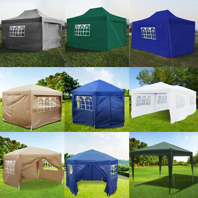 Outdoor Garden Pop Up Gazebo Marquee Party Tent Wedding Canopy 7 Sizes 5 Colours