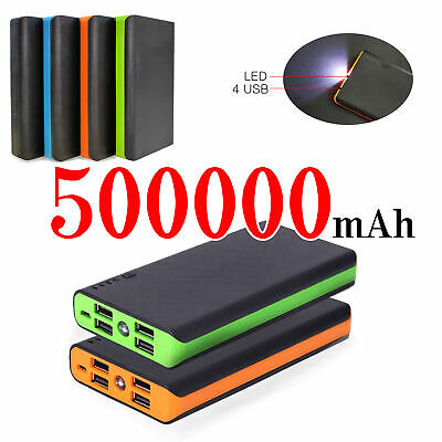4 USB Fast Charging Greenest Portable Power Bank 500000mAh LED Battery Charger