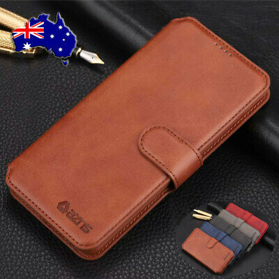For Samsung Galaxy S10 5G A20 A30 Magnetic Buckle Flip Leather Wallet Case Cover