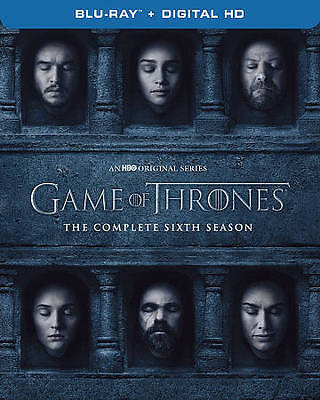 Game of Thrones The Complete Sixth Season 6  - Blu-Ray + Digital - New Sealed