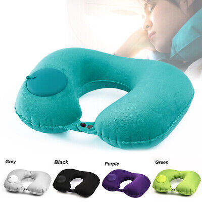 New Portable U-Shape Automatic Inflatable Travel Pillow Car Airplane Neck Pillow