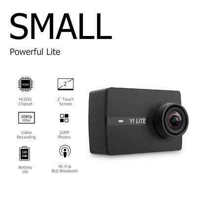 Yi Lite 4K Action Sports Camera 16MP 2 inch Touch Screen 150 Lens EIS Black