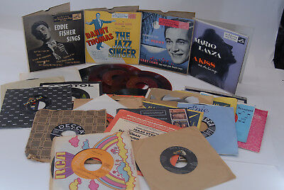 "Lot of 25 7"" 45&33 RPM Vinyl Records Various Artists/Genres See Pictures  C23"