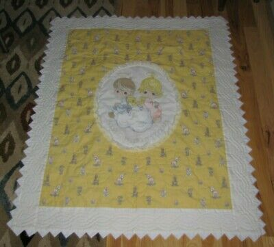 Precious Moments Sharing Baby Infant Toddler Quilt Blanket Throw Boy Girl Animal
