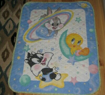 Baby Looney Tunes Outer Space Neighbors Bugs Tweety Sylvester Quilt Blanket