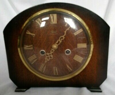 VINTAGE 1950s SMITHS ENFIELD ART DECO STYLE MANTLE CLOCK NR SOUNDS LOVELY CHIMES
