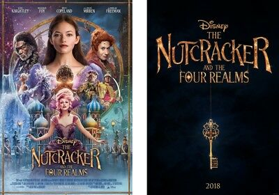 The Nutcracker and the Four Realms Original Double Sided Movie Poster LOT 27x40