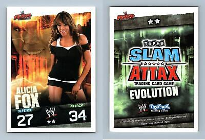 Alicia Fox - WWE Slam Attax Evolution 2009 Topps TCG Card