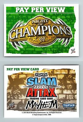 Night Of Champions - WWE Slam Attax Mayhem 2010 Topps TCG Card
