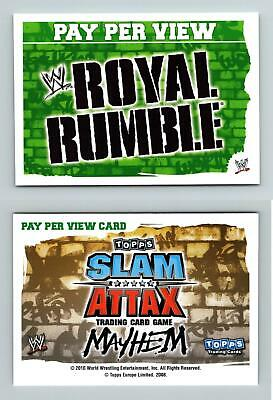 Royal Rumble - WWE Slam Attax Mayhem 2010 Topps TCG Card