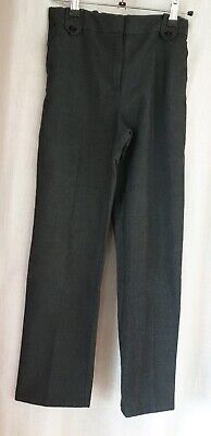 Girls Grey School Trousers Age 11 Years Bhs Straight Leg