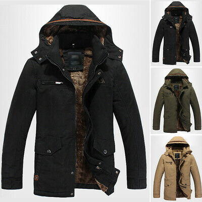 Outwear New Jacket Parka Down Warm Cotton Winter Plush Hooded Mens Stylish Coat