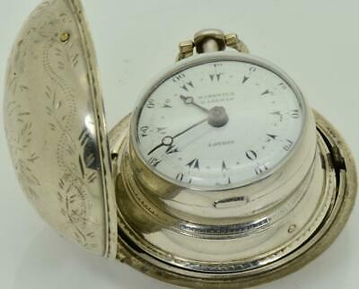 WOW! Ottoman Markwick Markham triple silver case Verge Fusee watch.For repair