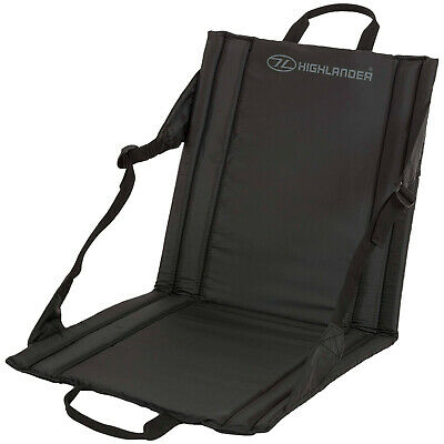COMPACT DELUXE FOLDING SEAT outdoor camping chair with back rest festival picnic