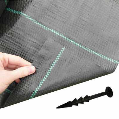 5m x 10m + 100 Securing Pegs Yuzet 100gsm Ground Cover Weed Control Fabric Mulch