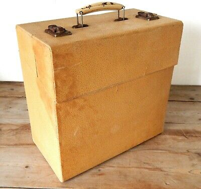 "Vintage Record LP Storage Carry Case Box Vinyl Album 12"" Shabby #A"