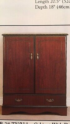Mahogony Tv Cabinet In Good Condition