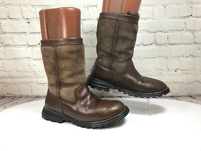 ef7c7b2e319 UGG AUSTRALIA BOOTS 5381 Brooks Durable Leather Shearling Sheepskin Size 6