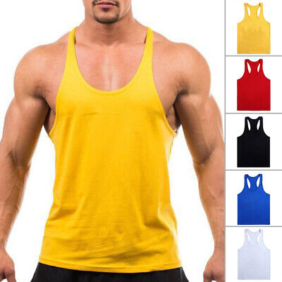 Mens Casual Slim fit Sport GYM Exercise Tank Top Training A -shirt Top Shirt