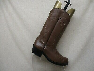 d925b3250dd SHEPLERS BROWN LEATHER Western Cowboy Pull On Boots Mens Size 10 D ...
