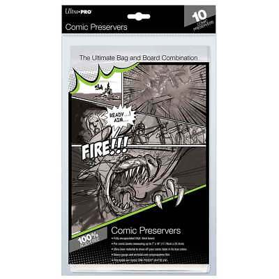 """1 Pack 10 Ultra Pro Comic Book Preserver Storage 7 x 10"""" Acid Free Bags & Boards"""