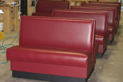"""Restaurant Booth 48""""L x 42""""H single and double side booth, Quick Ship Made in US"""