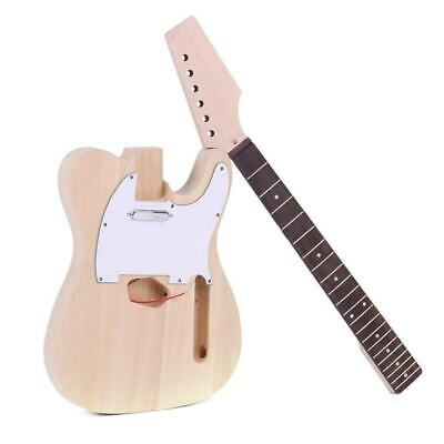 High Quality TL Style Unfinished DIY Electric Guitar Kit Maple Neck I3F6