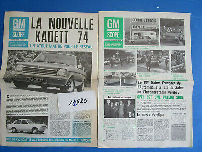 N°12629 /  9 revues : GM SCOPE OPEL ,berline ,break ,utilitaire...1970-1973