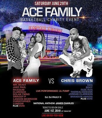 Ace Family Charity Basketball Event - 2 Tickets! **SECTION 215** GREAT PRICE!!!!