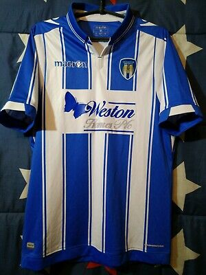 Size M Colchester United 2016-2017 Home Football Shirt Jersey Macron