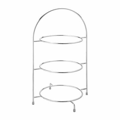 Utopia Chrome Three Tier Cake Stand 270mm [DY298]
