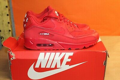 Nike Men's Air Max 90 Essential Running Sneakers Red Size 9