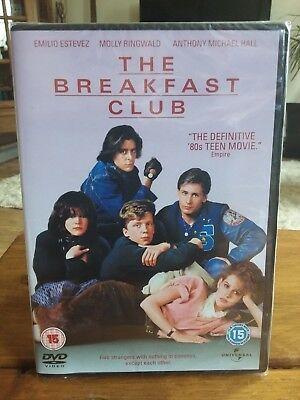 THE BREAKFAST CLUB  ✔ DVD ✔John Hughes ✔ Emilio Estevez ✔ New & Sealed ✔