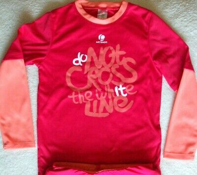 VGC Girls Decathlon Sports Athletics Red Long Sleeve T-Shirt Top Size Age 6
