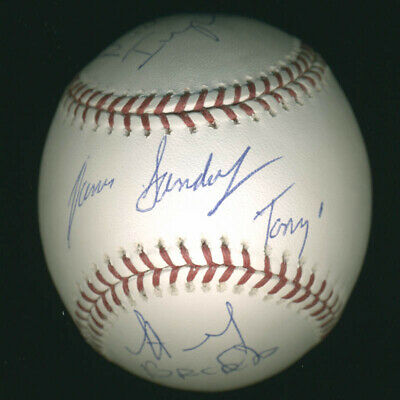 The Sopranos Tv Cast - Autographed Signed Baseball With Co-Signers