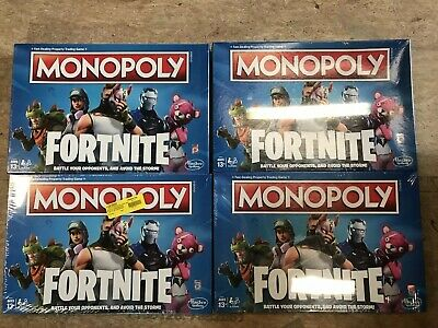 WHOLESALE LOT OF 4 Monopoly: Fortnite Edition Board Game NEW