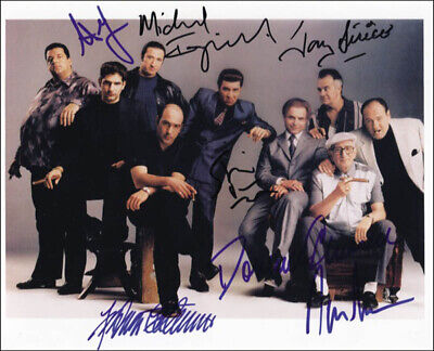 The Sopranos Tv Cast - Autographed Signed Photograph With Co-Signers