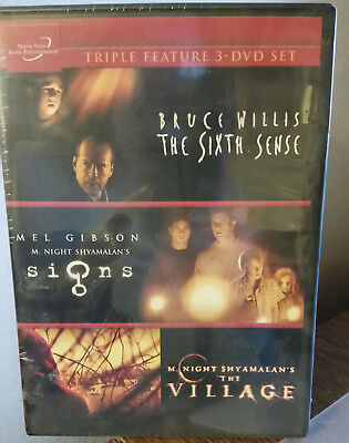 The Sixth Sense Signs The Village Triple Feature 3 DVD Set BRAND New Bruce, Mel
