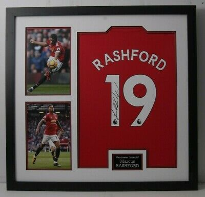 Marcus Rashford Signed & FRAMED Manchester United Shirt (A)