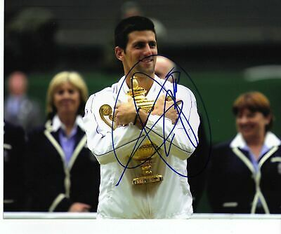 Novak Djokovic Genuine Hand Signed Autograph In Person 10x8 Photo Wimbledon 2011