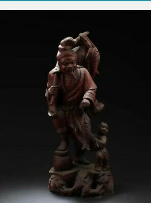 Chinese Hand Carved Wood 19th Century